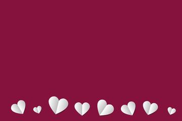 Blanko Grußkarte mit Herzen