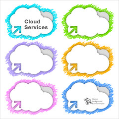 Cloud Service Background #Vector Graphic