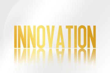 Innovation - Illustration - Mirrored Text Graphic - Modern Business Design