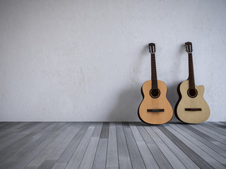 3ds guitar in the room