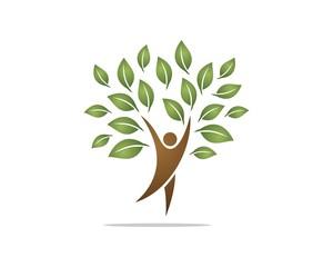human shape tree logo 2