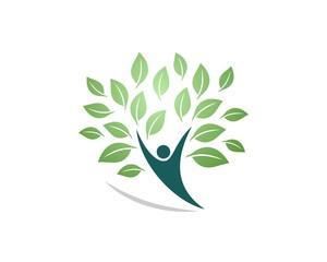 human shape tree logo