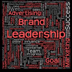 Fotobehang Kranten Conceptual business leadership word cloud