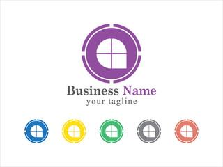 Simple Circular Property Logo Vector Icon Set
