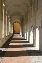 Ancient arcades passageway