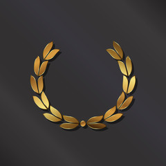 Golden laurel. Vector logo