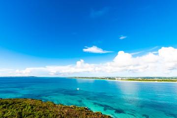 Lighthouse, landscape. Okinawa, Japan.