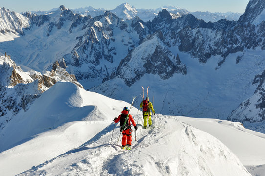 French Alpes mountains in Chamonix, France