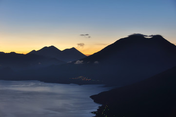 Sunrise at Lago Atitlan, Guatemala