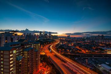Foto op Aluminium Kuala Lumpur Awesome sunrise of Kuala Lumpur Skyline