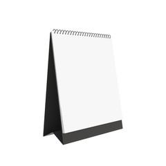 blank calendar mockup isolated on white