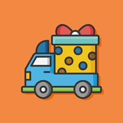cargo truck vector icon