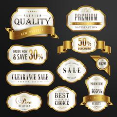 premium quality golden labels design