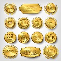 attractive golden labels design