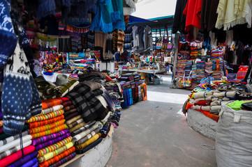 Colorful Sunday market in Otavalo, Ecuador