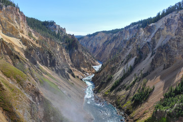Fototapete - Canyon in Yellowstone National Park, Wyoming, USA