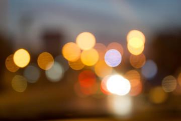 blur bokeh of night light