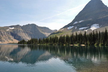 Fototapete - Hidden Lake Trail, Glacier National Park, Montana, USA