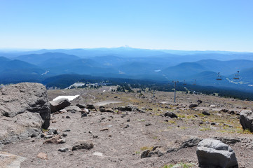Fototapete - View from Mount Hood, Oregon, USA