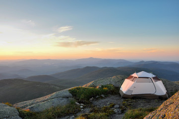 Sunset over the Adirondack Mountains, New York, USA