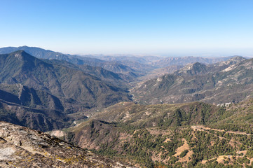 Fototapete - Scenic view from Sequoia National Park, California, USA