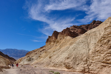 Wall Mural - Gold Canyons of Death Valley National Park, California, USA