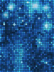 Blue rectangle mosaic