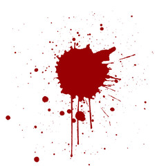 Grunge background with red color splatter. Vector illustration
