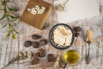 Shea butter with shea product and nuts