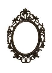 Metal mirror frame isolated on white