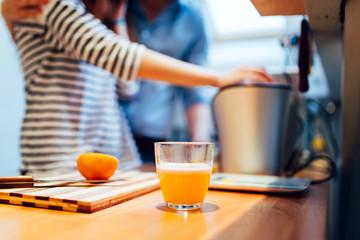 Fresh organic orange juice