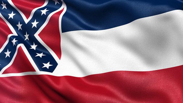 US state flag of Mississippi