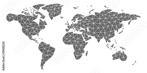 Polygon triangle world map stock image and royalty free vector polygon triangle world map gumiabroncs Image collections