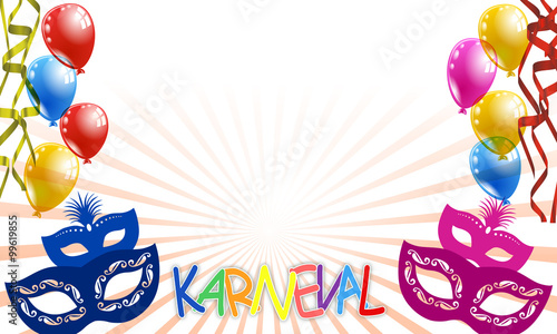 "karneval - maske "" stock image and royalty-free vector files on, Einladungen"