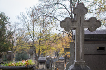 cross at the cemetery