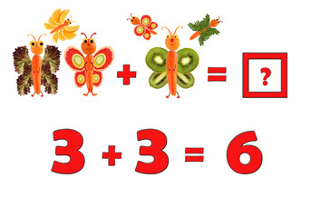 Illustration of Education Mathematics for Preschool Children. Th