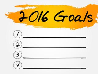 2016 Goals List, business concept