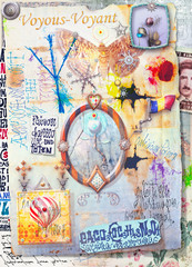 Canvas Prints Imagination Alchemic and esoteric scraps and collage series