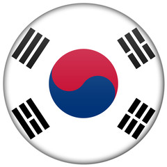 South Korea button badge icon