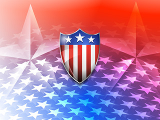 American Shield on a Stars America Background