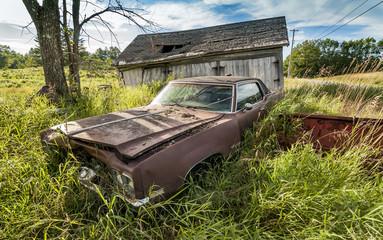 Old wrecking car