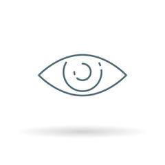 Eye icon. Sight sign. Vision symbol. Thin line icon on white background. Vector illustration.