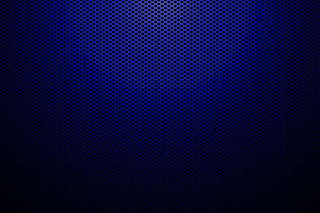 spotlight on blue metallic mesh background.