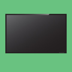 LCD monitor in vector