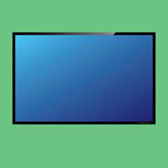 LCD or LED tv screen. Vector
