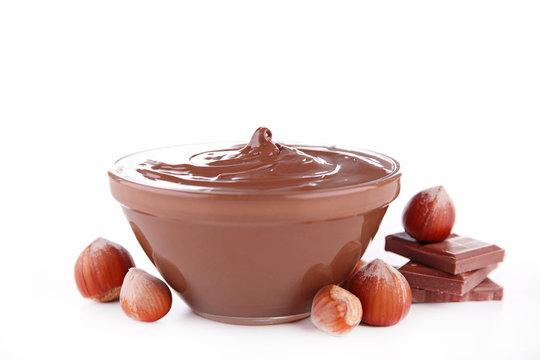 nutella, chocolate spread