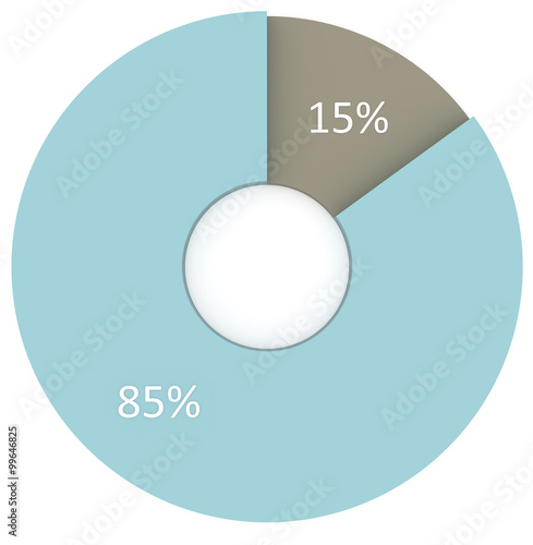 15 percent blue and grey circle diagram isolated stock photo and 15 percent blue and grey circle diagram isolated ccuart Images