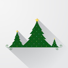 Vector simple christmas tree background