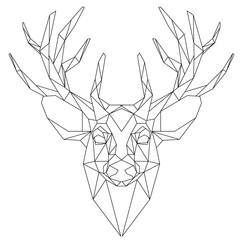Deer head triangular icon