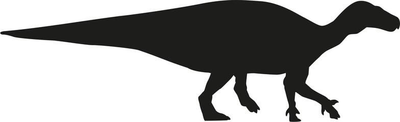 Dinosaur iguanodon silhouette